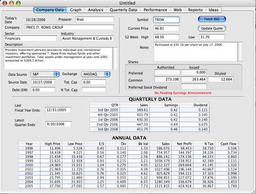 Stock Investment Guide for Mac OS X 3.0.9 full